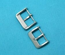10 Pcs 18mm Solid Stainless Steel Silver Tone Watch band Strap Clasps Buckle