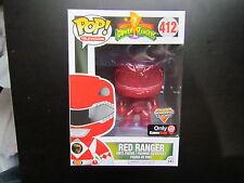 FUNKO POP! #412 RED RANGER GAMESTOP EXCLUSIVE MIGHTY MORPHIN POWER RANGERS