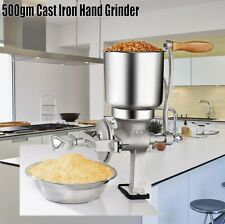 Hand Grinder Operated Corn Grain Wheat Spice Rusher Mill Machine 500gm Cast Iron