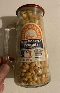 Vintage Glass Mug O' Nuts Peanuts LA Dodgers Baseball Peanut NOS Full