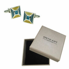 Unbranded Onyx Square Cufflinks for Men