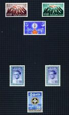 Ceylon 1958-63 selection of 13 stamps on 2 pages m/mint.