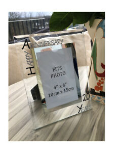 Personalised/Non personalised 20th Anniversary Photo Picture Frames Port