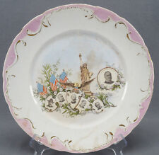 Rare Late 19th Century West End Pottery Co Souvenir of the Cuban War 1898 Plate