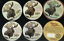 American Expedition Stone Coasters Moose Design Unused in Box