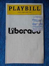 Liberace - Valley Forge Music Fair Playbill w/Ticket - September 2nd, 1977