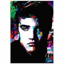 Pop Art 'Elvis Presley Electric Ambition' - Ltd. Ed. Giclee Painting on Acrylic