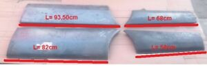 MITSUBISHI L200 PICK UP UTE 1979 86 BED LOWER REAR AND FRONT PANELS PAIR LH RH