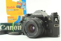 【NEAR MINT+++】 Canon AE-1 Program 35mm Film Camera + 28mm f/2.8 Lens From JAPAN