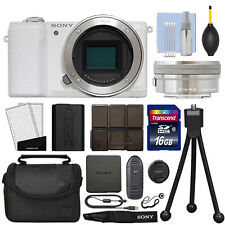 Cámara digital Sony Alpha a510 sin espejo con lente de 16-50mm Blanco + Kit de 16GB