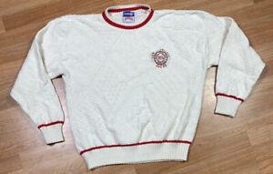 VTG Nutmeg 80's San Francisco 49ers NFL Knit Sweater Men's SZ XL Members Rare