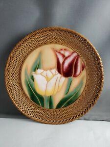 Tulip Enamel Over Copper Dish Basket
