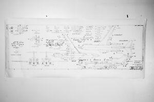 PLAN ONLY 1961 VINTAGE 1/100 BOEING 727 DESKTOP AIRPLANE MODEL PLANS