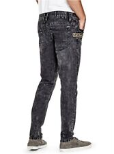 G By Guess Men's Rodeo Skinny Jeans In Black Wash Super Stretch Denim Size 31