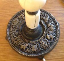 "Antique Signed Cassidy & Co. Lamp *BASE IS HOROSCOPE ZODIAC* Ceramic Body 18.5"""