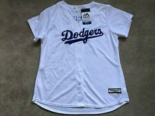 NEW Clayton Kershaw Los Angeles Dodgers WOMEN NWT White Jersey Majestic XL