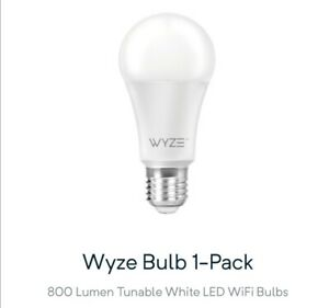 Wyze Bulb 800 lm 60-Watt Equivalent Tunable White Dimmable Wi-Fi LED A19 Smart