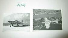 N°14287 / 2 photos argentiques d'epoque aircraft FALCO F8L