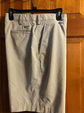 Euc Men's Nike Golf Brown/White Sripe Flat Front Shorts 34