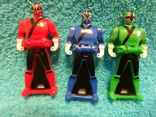 Power Rangers  Mega force Legendary Key  Samurai Red, Green, Blue Rangers