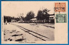 vintage postcard Cpa Russian soldier Russia army in Sabang Indonesia 1909 stamps