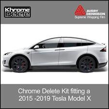 Chrome Delete Kit fitting the 2015-2020 Tesla Model X
