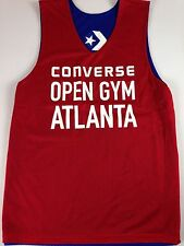 Converse Open Gym Atlanta Basketball Jersey Mens Small Red Blue Sleeveless Tank