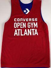 Converse Open Gym Atlanta Basketball Jersey Mens Small Red Blue Sleeveless Tank