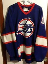 RARE new CCM MASKA CenterIce Blue Pro Stock Winnipeg Jets Size 56 jersey - NWOT
