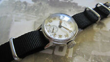 WW2 ELGIN MILITARY WATCH SUB SECOND WITH NEW MILITARY CASE