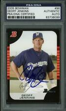 Brewers Geoff Jenkins Authentic Signed Card 2005 Bowman #96 PSA/DNA Slabbed