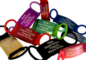 Engraved Flat Pet Tags size Large for collars up to 4cm in width