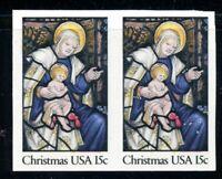 EFO 1842a 15¢ CHRISTMAS IMPERF PAIR ERROR MINT NH VF+