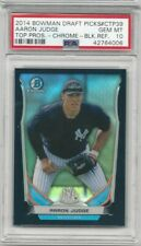2014 Bowman Draft Aaron Judge Black Refractor non-auto 54/75 PSA Gem Mint 10
