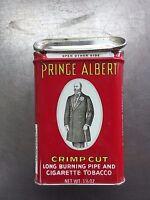 VINTAGE PRINCE ALBERT POCKET TOBACCO TIN  Pipe & Cigarette Tobacco Tin Crimp Cut