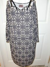 ~JUICY COUTURE~Rayon/Spandex Batwing Sleeves Open Neck Stretch Mini Dress size M
