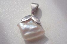 Anhänger 750er Weissgold mit Perle neuwertig(#2133#) Mabe Perle