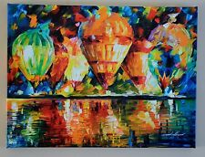 HOT AIR BALLOON SHOW PAINTING LEONID AFREMOV GICLEE ON CANVAS SIGNED/# COA