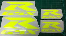 4  X  FLUORESCENT YELLOW   SUZUKI GSX-R   VINYL DECAL STICKERS
