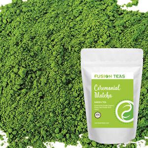 Ceremonial Matcha Green Tea Powder - From Japan - Organic - Fusion Teas