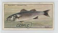 1933 Player's Fresh-Water Fishes Tobacco Base Pink Backs 2 Bass or Sea-Perch 0a4
