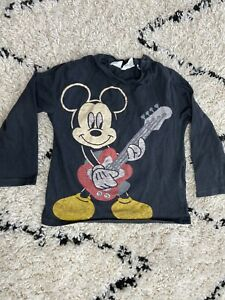 Zara 'mickey Mouse' Long Sleeved Top 18-24 Months