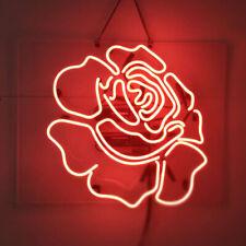 Red Rose Neon Sign Light Flower Shop Home Room Party Pub Display Artwork Gift