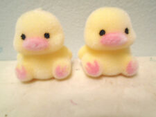 Mini Tiny Yellow Flocked Easter Chicks Chickens Shabby Chic Crafts Fairy Garden