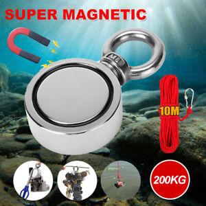 200KG Salvage Strong Recovery Magnet Neodymium Treasure Metal Hunting Fishing