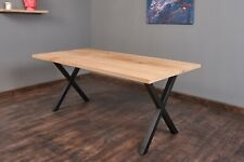 Massivholztisch Tisch aus Eiche  Holztisch Baumtisch Baumkante Exim Welt