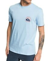 QUIKSILVER MENS T SHIRT.NEW WITHOUT PARALLEL BLUE BACKPRINT COTTON TOP 9W 96BF