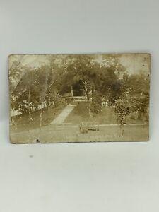1910 RPPC Indian Mound Camden Park Photo Huntington W Va Postcard