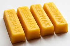 4 Pure Beeswax Blocks / Bars - Cosmetic Grade Naturally Fragrant Beeswax