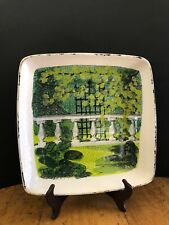 Decorative Square Wall Plate Marco e Cristina Italian Pottery Hand Painted